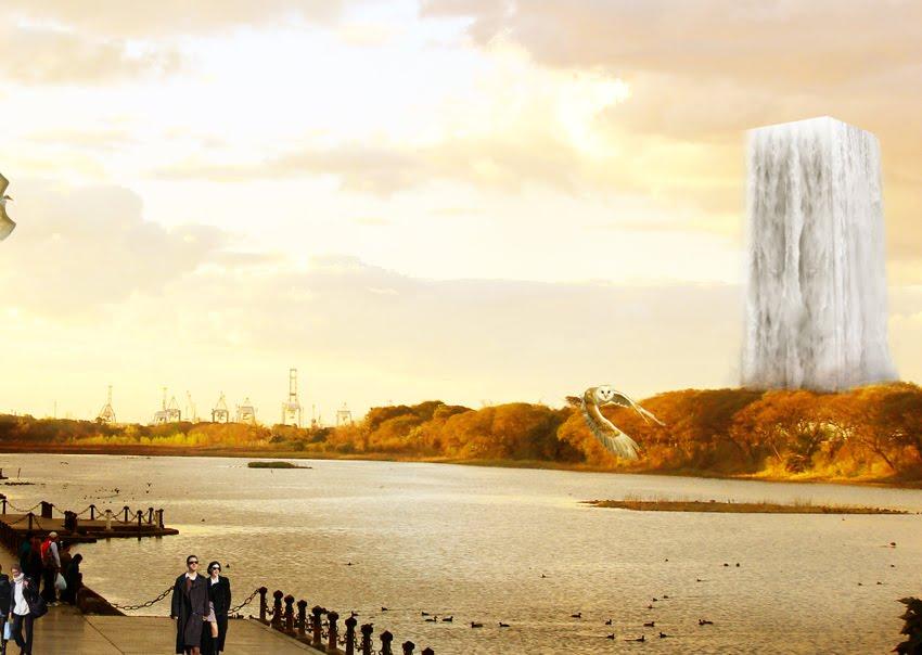 Rascacielos con dise o bioclim tico contenedor naranja - Humidificar el ambiente ...